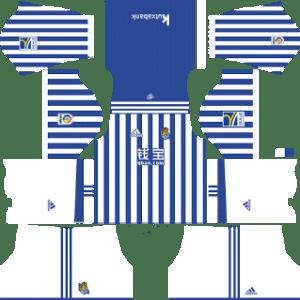 Real Sociedad Kits 2017/2018 Dream League Soccer