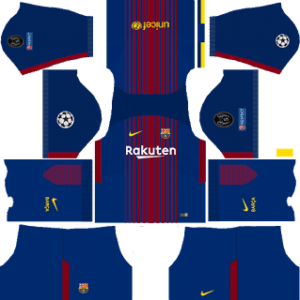 Barcelona UCL Home Kit