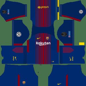 Barcelona UCL Home Kit