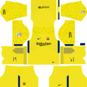 Barcelona GoalKeeper Away (Yellow) Kit