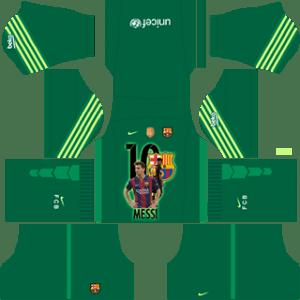Messi Barcelona GoalKeeper Away Kit