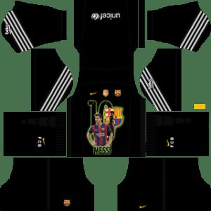 Messi Barcelona Goalkeeper Home Kit