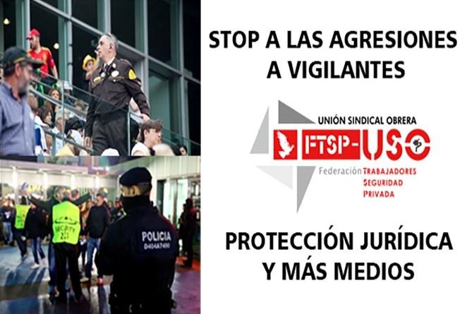 Stop agresiones, vigilantes agredidos