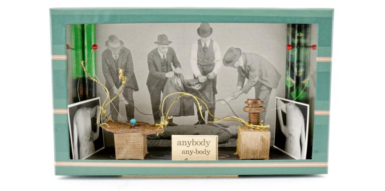 Portfolio photo of boxed assemblage art by Frank Turek