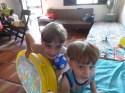 Os dois sobrinhos em Cabo Frio, no apagar das luzes de 2013