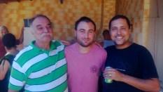 Churrasco na Casa do Wiliam. Na foto estamos o Sr Arnaldo, eu e o Wiliam. Foi as vésperas de eu embarcar para os EUA. Um dia memorável.