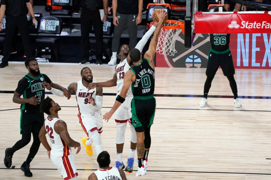 Heat Vs Celtics Bam Adebayo S Block Is More Beautiful In