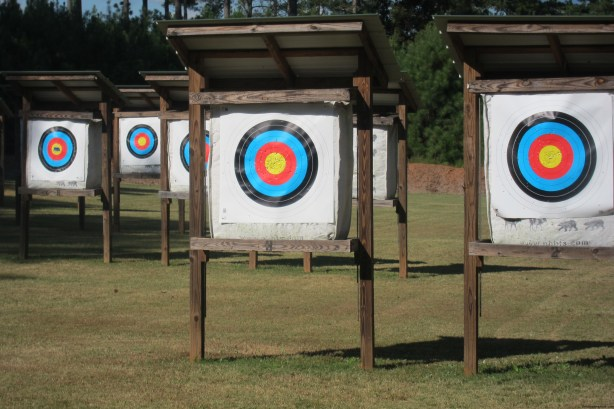 Static archery range at Panola Mountain State Park