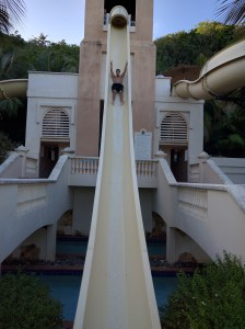 Coqui Water Park slide at the El Conquistador Hotel in Puerto Rico.