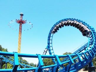 Six Flags Over Georgia Blue Hawk Roller Coaster