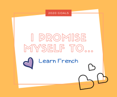 I promise myself to learn French in 2020