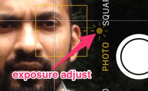 iOS exposure adjustment