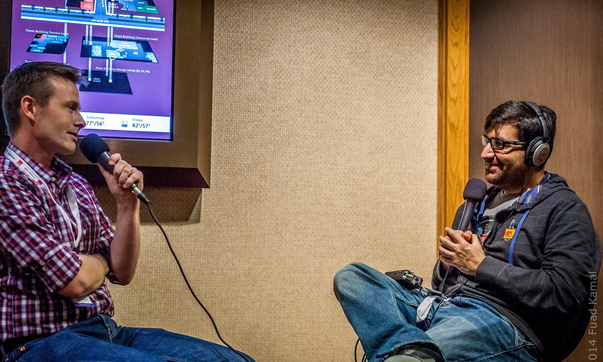 Jay Thrash (@jaythrash) is interviewed on the NSBrief podcast by Saul Mora (@casademora) during 360iDev
