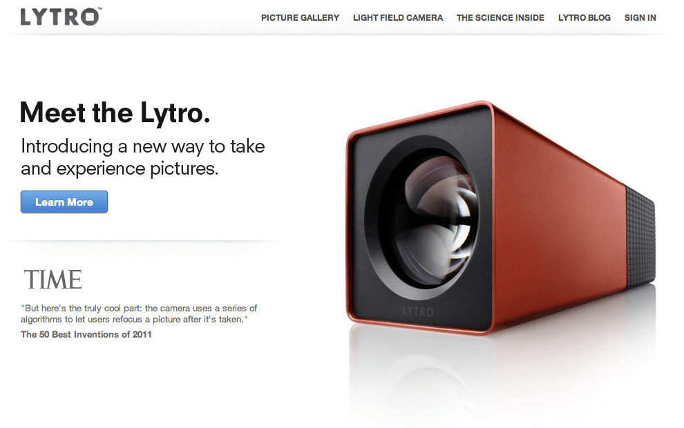 Original Lytro (image courtesy of Aaron Parecki https://www.flickr.com/photos/aaronpk/)