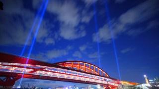本日の写真&動画 神戸大橋 特別演出照明 ライトアップ TimeLapse