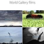 iPhone6で撮影した動画が追加。「World Gallery films」に追加公開。