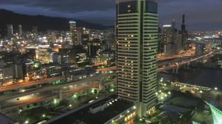 神戸ポートタワーの展望ロビーから「iPnone6」で夜景を撮影。
