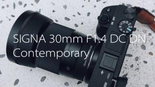 【レビュー】 「SIGMA 30mm F1.4 DC DN | Contemporary」 単焦点レンズをソニーα6300との組み合わせにて(ソニーミラーレスの単焦点レンズ選び。その③)
