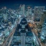 【大阪梅田 夜景】大阪駅前第3ビルの展望ロビーから
