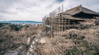 2017年3月初旬の清水寺の工事の現状