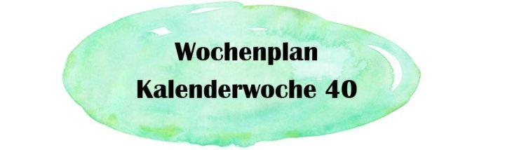 Essensplan – KW 40
