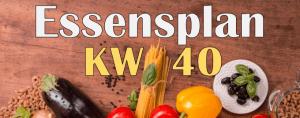 Essensplan – KW 40 – 2020