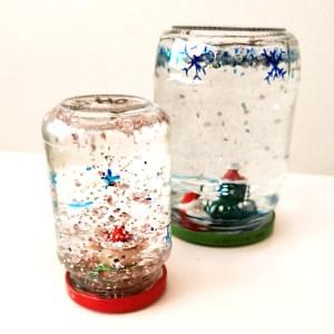 DIY – glitzernde Schneekugel