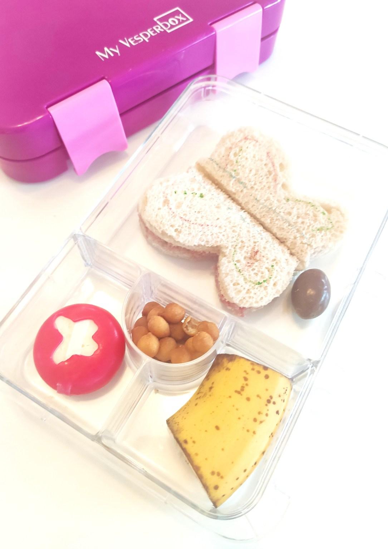 Brotdose mit Backerbsen und Babybell