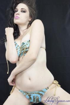Teal Leopard Bikini