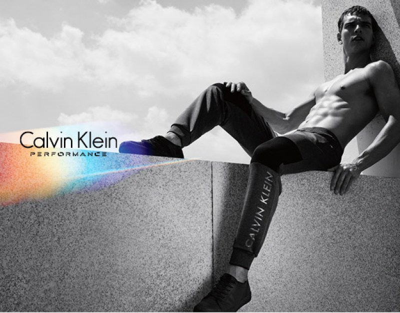 Brazilian model Alexandre Cunhamodeling the Fall/Winter 2015 campaign of Calvin Klein Performance.