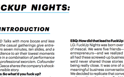 Esquire: Interview to the Director of FuckUp Nights