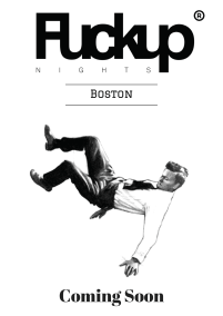 Boston Fuckup Nights Coming Soon