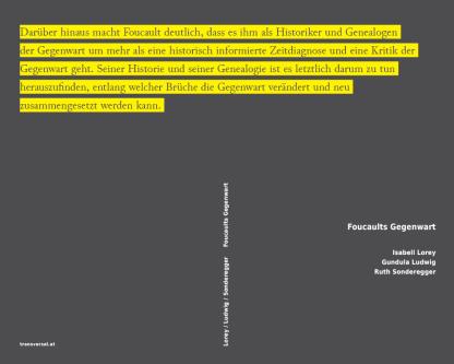 Foucaults Gegenwart. Sexualität - Sorge - Revolution