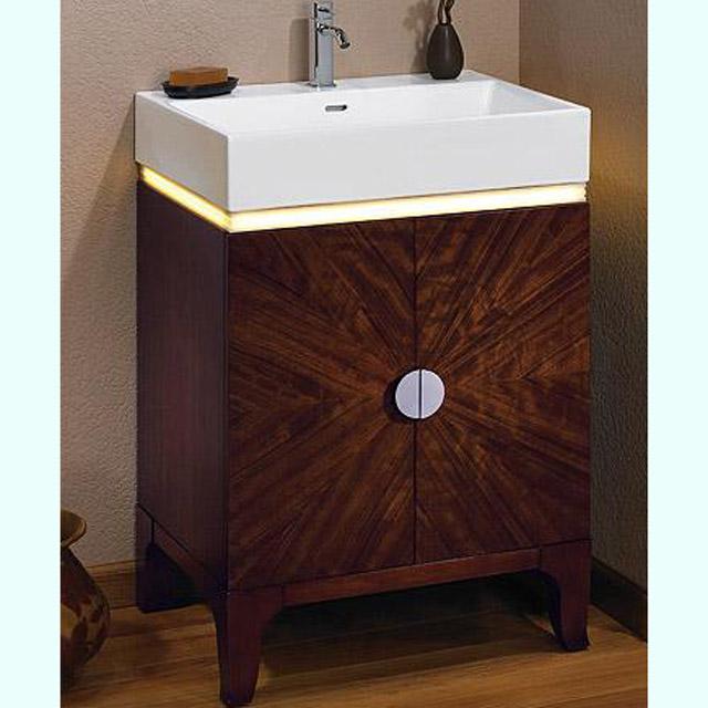 Bathroom Vanities Half Moon Vanity with LED  Fuda Tile