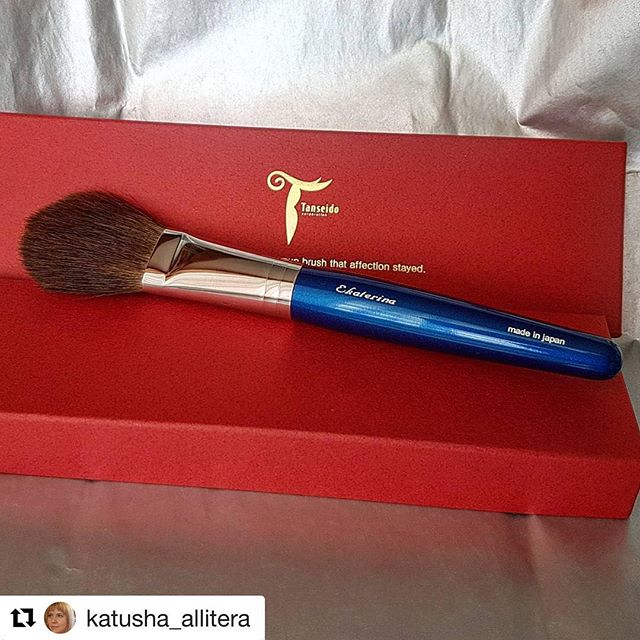 #Repost @katusha_allitera (@get_repost)・・・Wonderful #brush #japanbrush #tanseido with red squirrel. Thank you #fudejapan_заказы #fudejapan @fudejapanrussia @fudejapan