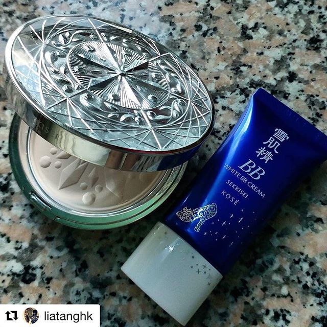 "#Repost @liatanghk (@get_repost)・・・Current favourite makeup products. This limited edition face powder is amazing! It contains diamond powder and comes with two types of puffs, regular one and with hyaluronic acid. I also love the white bb cream. It's so light and very smooth. Both products together give very natural ""no-makeup"" look....#makeup #makeupproducts #sekkisei #kose #facepowder #bbcream #japanesecosmetics #beauty #beautyproducts #asiancosmetics #azjatyckiekosmetyki #makijaz #kosmetyki #japancosmetics #diamondpowder #compactpowder #lifestyle #lifestyleblogger"