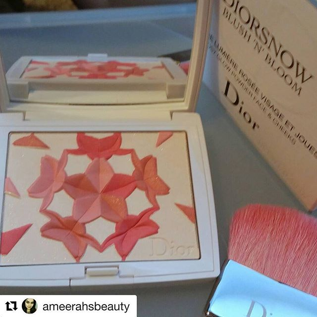 #Repost @ameerahsbeauty (@get_repost)・・・In love with this blush. Thanks to @fudejapan #diorsnowblushnbloom #diormakeup