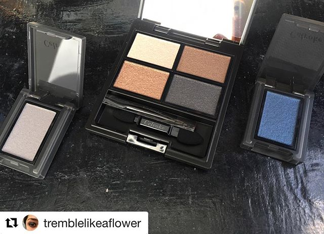 #Repost @tremblelikeaflower (@get_repost)・・・A few pieces of the @celvoke.jp fall and holiday collections..Palette 05 looked really boring in photos so I skipped it the first time around but after seeing swatches of the yellowy browns I changed my mind..The singles are part of the configuration of palette 06, the holiday offering. The LE shade didn't interest me and I already owned the other, so singles seemed the way to go. 02 is a soft matte dove grey and 21 is a shimmering cornflower blue..#Celvoke has been a pleasant surprise discovery for me this year. I've heard the line has its dud products, but all I've tried so far has been shadows and what I have, I like..Thanks again to @fudejapan for the assistance!.#instabeauty #makeup #beauty #japanesebeauty #voluntaryeyepalette