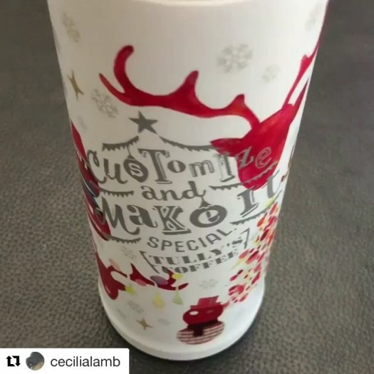 #Repost @cecilialamb (@get_repost)・・・Thanks to @fudejapan I finally got this limited-edition, fast-to-be-sold-out-everywhere tumbler by Tully's. Time for coffee now ️ #tullys #tullyscoffee #japan #limitededition #christmasedition #christmas #christmas2017 #holidays2017 #coffeeonthego #caffelatte #latte #patiencepaysoff