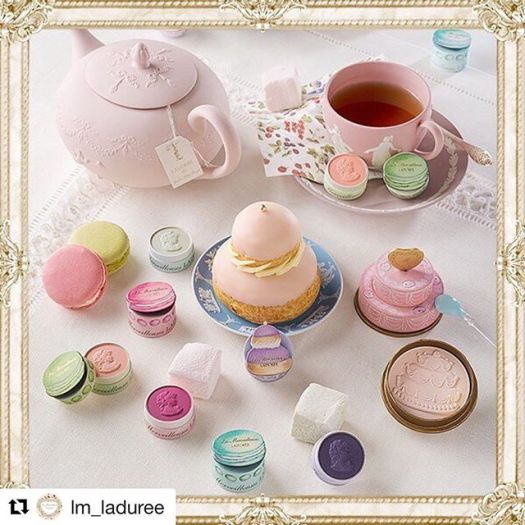 #Repost @lm_laduree with @get_repost・・・2018 SUMMER COLLECTION launching today.#lesmerveilleusesladuree #summer #collection #sweets #cosmetics #makeup #macaron #cake #color #cheek #eyeshadow #facepowder #limitededition #限定品 #マカロン #お菓子 #チーク #アイシャドウ #ラデュレ #laduree #lmladuree