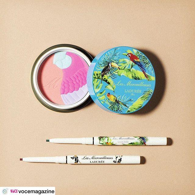 #Laduree blush 5760 yen 【本日発売!】⠀ラデュレの夏新色は、ビビッドな発色が印象的なコレクション。⠀南国を思わせる、エキゾチックなパッケージに、使う前からワクワクが止まりません! ⠀複数のカラーがミックスされたチークカラーは、混ぜて使うと肌の内側から高揚するような自然な血色感が手に入ります⠀アクセント アイライナーは、どれも一気にトレンド顔になれちゃうオシャレ色。こんなに可愛いのに、 ウォータープルーフなのが頼もしい!⠀(編集MR)⠀⠀レ・メルヴェイユーズ ラデュレ⠀上から⠀ミックスド チークカラー 10g 全3色 各¥4800(数量限定品)⠀アクセントアイライナー  0.1g 全2色 各¥2500(数量限定品)⠀2019年4月26日発売⠀⠀#voce #vocemagazine #ヴォーチェ #新作コスメ #デパコス #コスメマニア #コスメ好きさんと繋がりたい #ラデュレ #夏新色 #チーク #アイライナー #カラーライナー #夏メイク