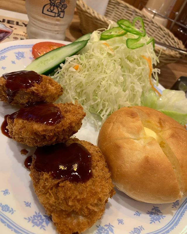 Mini #tonkatsu at #komeda coffee : #komeda is a cafe that reminds me of an old style Japanese cafe