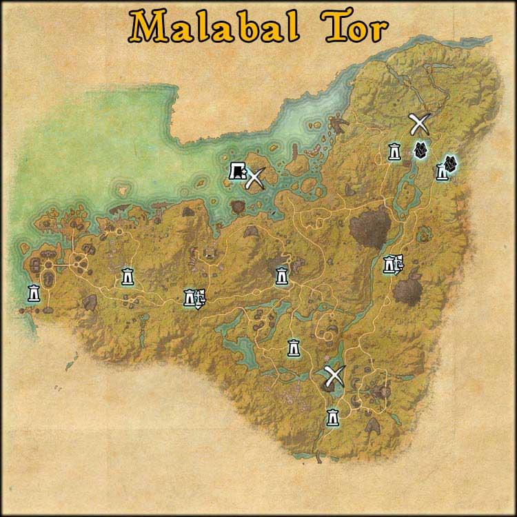 Mapa Malabal Tor