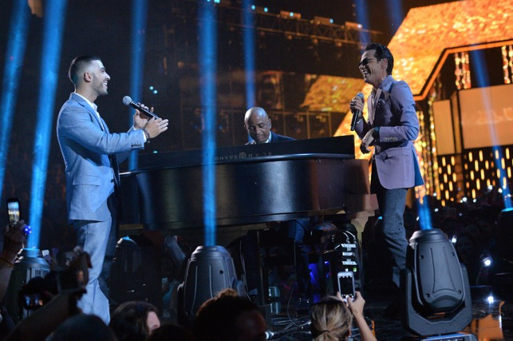Marc Anthony y Luis Figueroa.