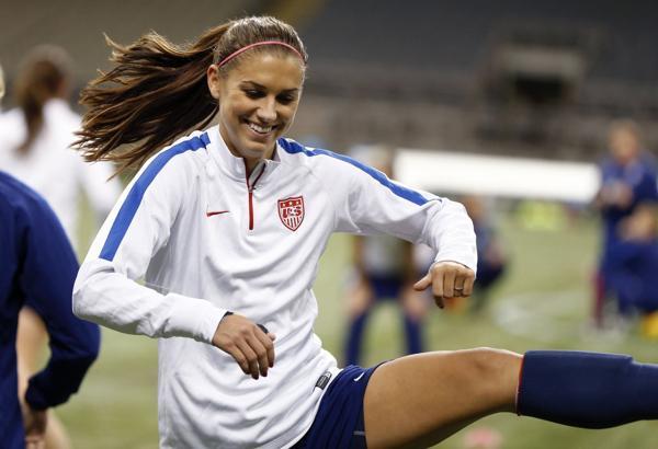 Alexandra Patricia Morgan, más conocida como Alex Morgan, es delantera de la selección de fútbol de Estados Unidos.