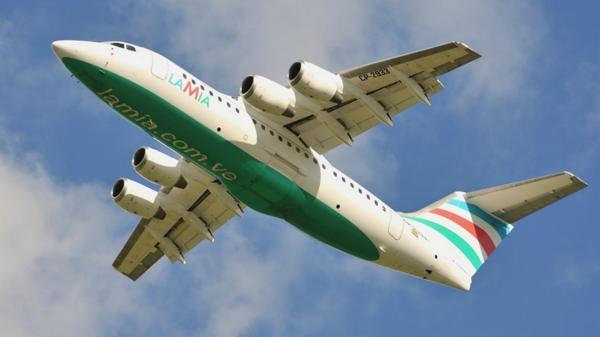 Una foto anterior del mismo avión que se precipitó en Colombia (airport.data.com).