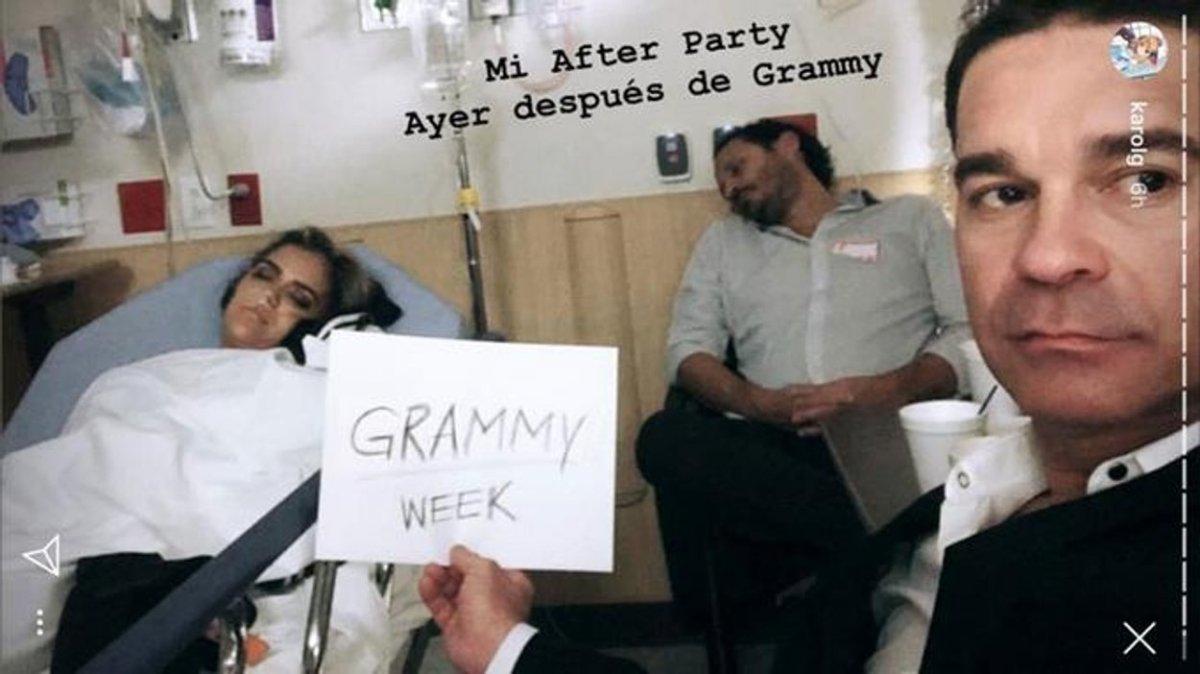 Cantante Karol G termina en hospital después de los Latin Grammy