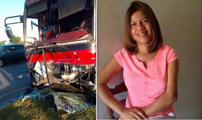 Muere mujer al chocar yipeta con un autobús; acompañante herida