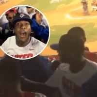 VIDEO: Sujeto Oro 24 pelea con hombre durante juego Licey y Toros