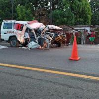 Un muerto y un herido tras ambulancia perder el control en la autopista Duarte